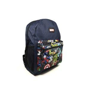 Kid's Marvel Comics Backpack Navy Blue Black
